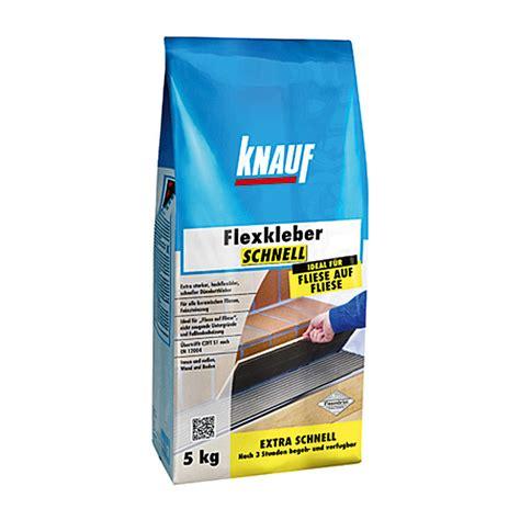 Fliesenkleber Für Feinsteinzeug by Knauf Flexkleber Schnell 5 Kg Begehbar Nach 3 H 5553