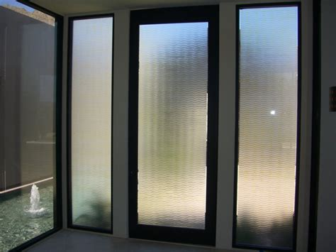golden waves etched glass doors contemporary design