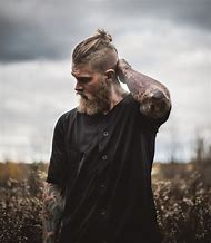 Viking Hairstyle Men with Beards
