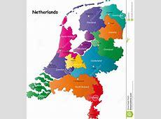 De kaart van Nederland vector illustratie Illustratie