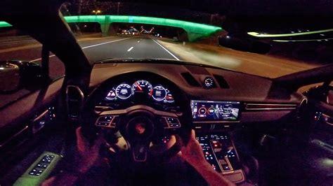 porsche cayenne turbo   pov night drive