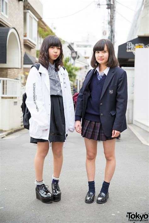 harajuku school girls  seifuku myob nyc wego platforms