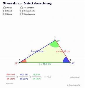 Sinus Cosinus Berechnen : sinussatz sinus kosinus oder tangens dreieck gegeben ~ Themetempest.com Abrechnung