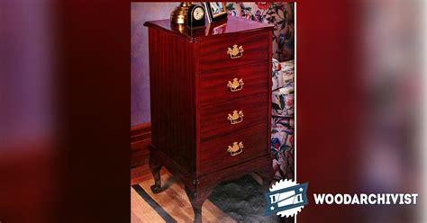 queen anne file cabinet plans woodarchivist