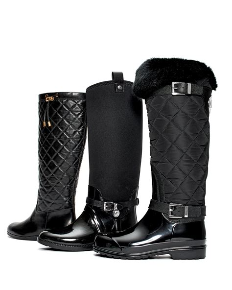 michael michael kors lizzie quilted leather knee boot
