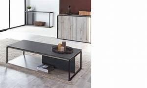 Table Chene Gris : table basse industrielle ch ne gris et marbre ~ Teatrodelosmanantiales.com Idées de Décoration