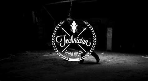 bold masculine clothing logo design  technician mma