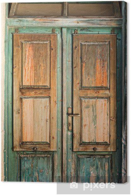 wooden door canvas print pixers    change