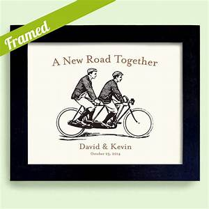 Gay wedding framed personalized wedding gift for gay by dexmex for Wedding gift for gay couple