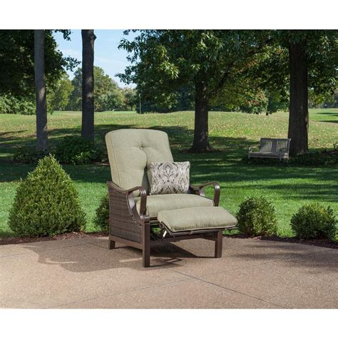 hanover ventura luxury recliner patio chair with pillow
