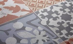Sol Vinyle Carreau Ciment : sol vinyle texline carreau ciment rouge rouleau 4 m saint maclou sol vinyle et vinyles ~ Dode.kayakingforconservation.com Idées de Décoration
