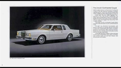 lincoln continental town car brochure youtube