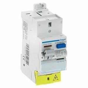 Interrupteur Differentiel Hager 63a Type Ac : interrupteur diff rentiel hager 63a 30ma type ac sanvis ~ Edinachiropracticcenter.com Idées de Décoration