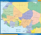 WEST AFRICA MAP | Wall Maps of the World