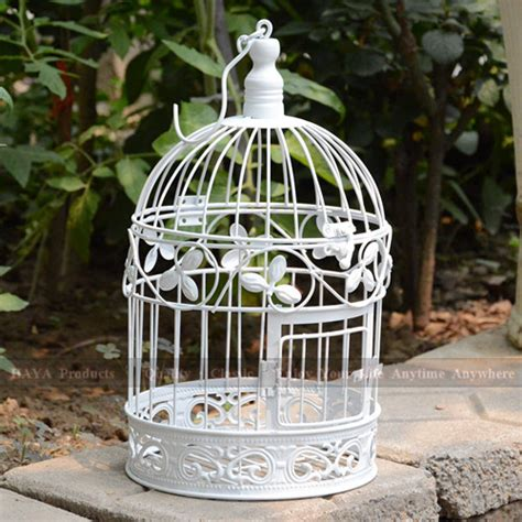 white bird cages for weddings aliexpress com buy 34cm a cage for birds white trefoil round bird cages iron birdcages wedding
