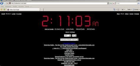clock radio web browser atonlineclock