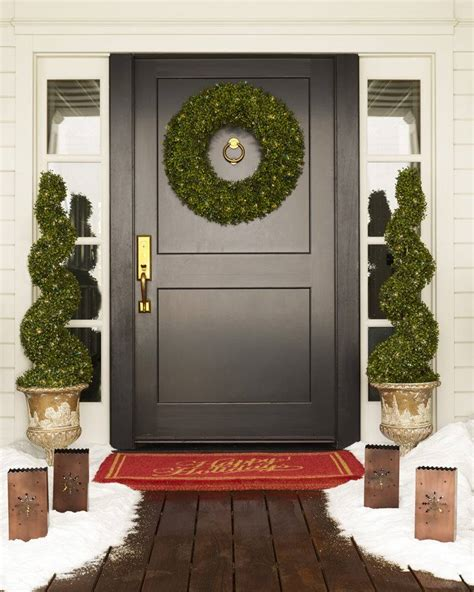 out door ribbon spursl trees outdoor led boxwood topiary balsam hill uk