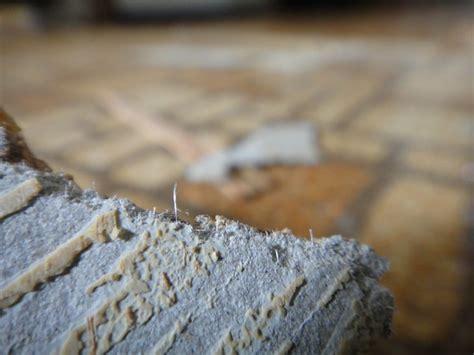 asbestos fibers  sheet flooring detail view