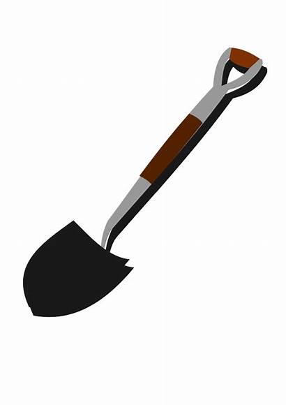 Shovel Clip Clipart Cliparts Vector Domain Royalty