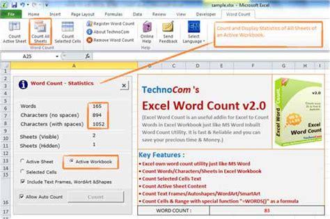 grasp    excel word count tool  screenshots