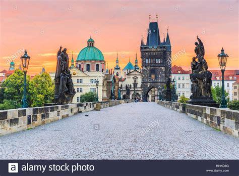 Charles Bridge Prague Sunrise Stock Photos And Charles