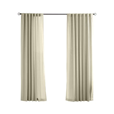 light filtering privacy curtains shop solaris canvas solid 96 in cream polyester back tab