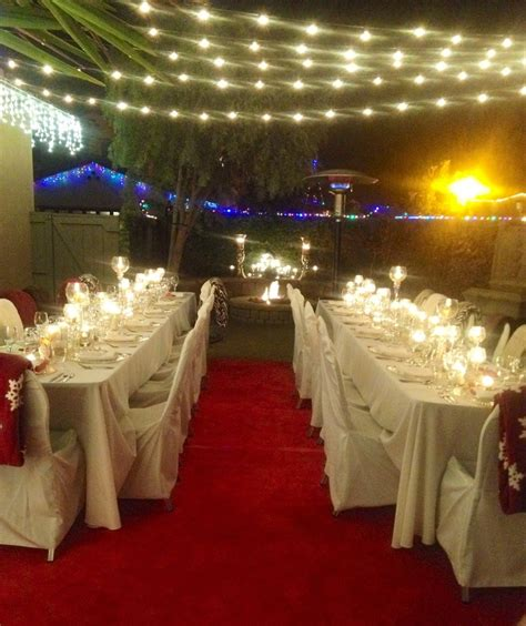 formal sit  dinner holiday party   yard