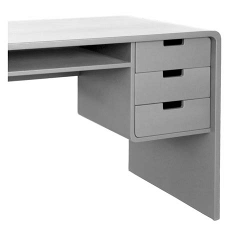 bureau gris bureau l65 gris clair laurette mobilier smallable