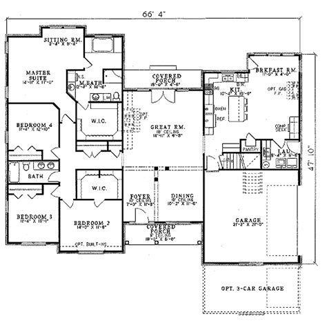 kitchen design blueprints european style house plan 4 beds 2 baths 2394 sq ft plan 1108