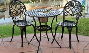 Up To 17 Off On Palermo Bistro Set 3 Piece Groupon Goods
