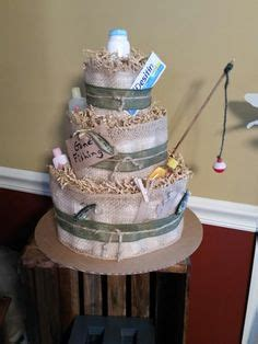 Diy Fishing Boat Diaper Cake by Fishing Themed Diaper Cake Baby Shower For A Boy