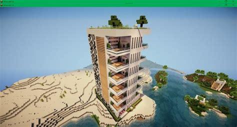 modern apartments  minecraft building