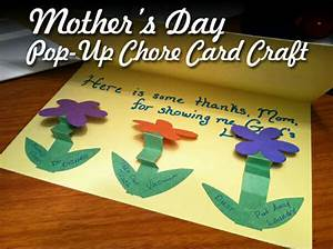 Mother's Day Craft: Mother's Day Chore Pop-Up Cards ...