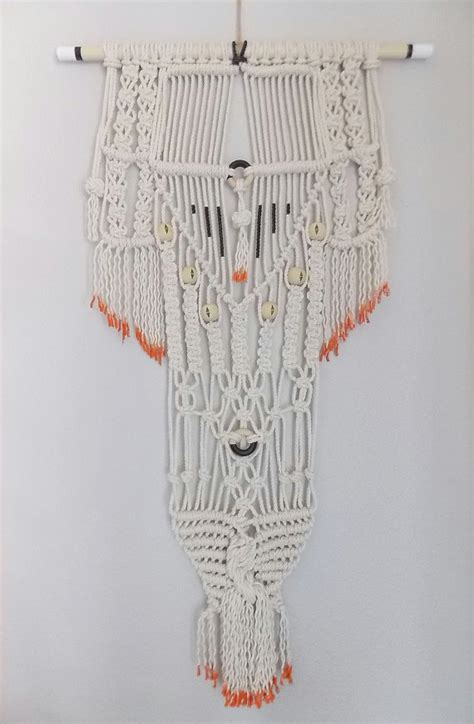 modern macrame wall hanging modern macrame knotted wall hanging no 26 by himo