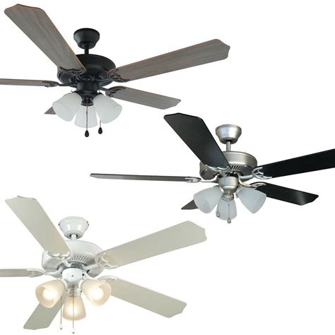Fans With Lights by 52 Inch Ceiling Fan With Light Kit Satin Nickel