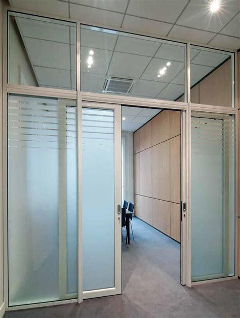 cloison de bureau en verre porte vitree coulissante dootdadoo com idées de