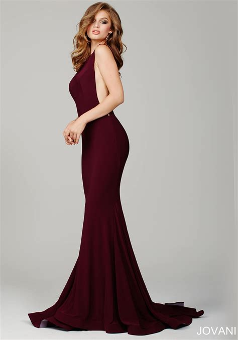 burgundy color prom dress burgundy prom dress by jovani this form fitting prom gown