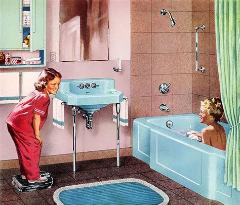 sinking in the bathtub c dianne zweig kitsch n stuff flashback 1950s retro