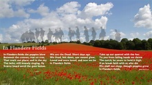 in flanders field | Confusions and Connections