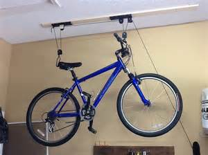 how to install a bicycle lift on your garage ceiling