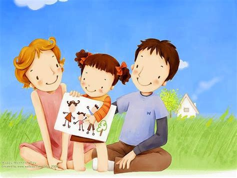 gambar kartun keluarga bahagia gambar top