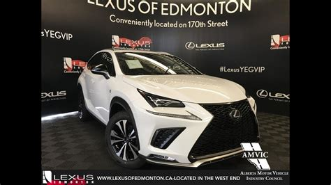 white  lexus nx   sport series  review edmonton