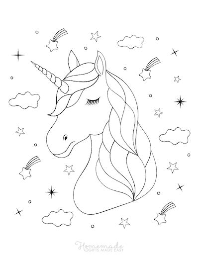 magical unicorn coloring pages  kids adults  printables
