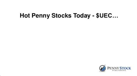 hot penny stocks today april