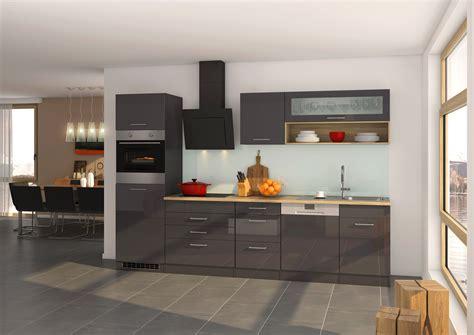 Hochglanz Grau / Graphit Küche