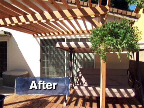 building  pergola   deck video diy