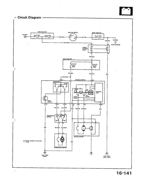 1996 honda civic power window wiring diagram get free