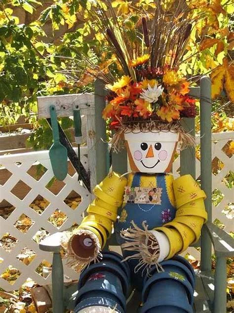 outdoor fall decor   plant pots