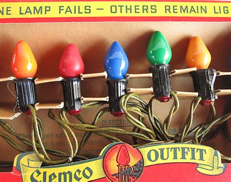 vintage christmas lights clemco old fashioned bulb christmas