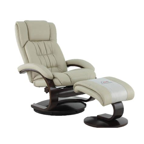 Leather Swivel Recliners by Mac Motion Oslo Collection Beige Breathable Air Leather